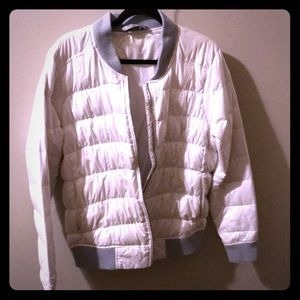 Athleta White XL goose down jacket
